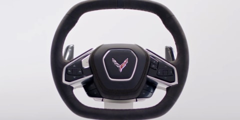 2020 Chevrolet Corvette: Steering wheel unveiled ahead of Friday's full reveal
