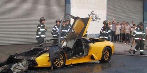 Lamborghini Murcielago fire