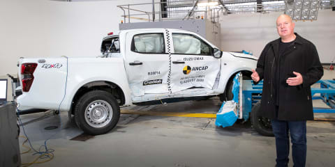 Video: Watch the 2021 Isuzu D-Max's ANCAP crash test