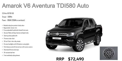 VW Amarok TDV6 Ultimate name changed to Aventura