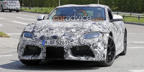 2019 Toyota Supra spied with production headlights