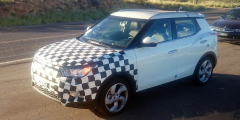 2015 Ssangyong Tivoli spied testing in Australia