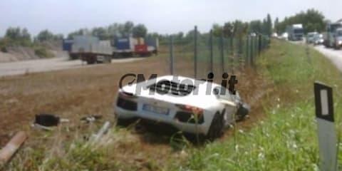 Lamborghini Aventador crash - that didn't take long