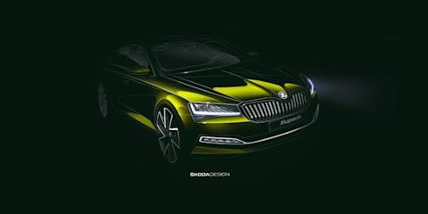 Skoda Superb facelift teased