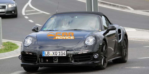 Porsche 911 Turbo Convertible spy photos