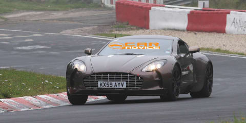 Aston Martin One-77 spied on the Nurburgring again