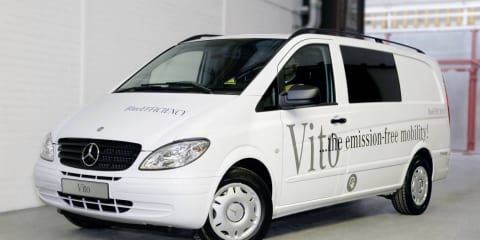 Mercedes-Benz Vito electric vehicle prototype unveiled
