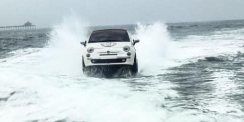 Fiat 500 drops in on US surfers