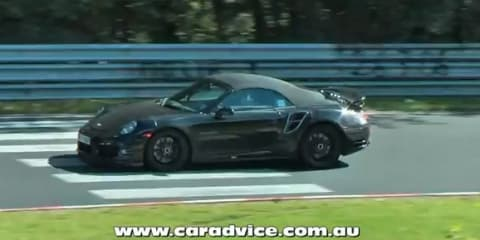 2013 Porsche 911 (991) Turbo Cabriolet spy video
