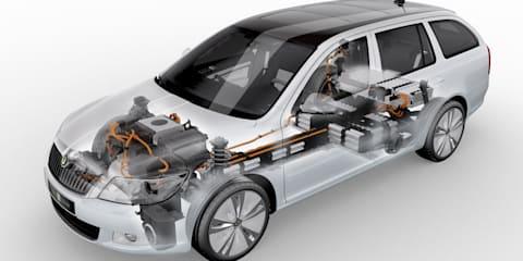 Skoda Octavia E Line electric vehicle test fleet production begins