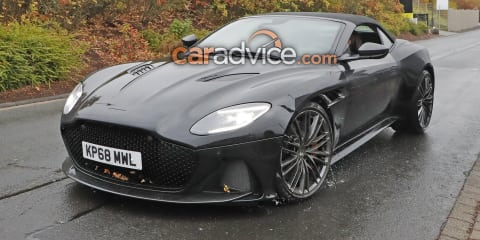Aston Martin DBS Superleggera Volante spied undisguised