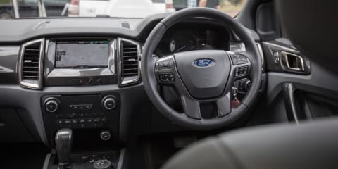 How does Terrain Management System (TMS) work in the Ford Everest?