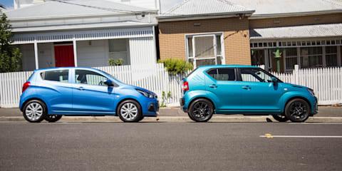 2017 Holden Spark LT v Suzuki Ignis GLX comparison