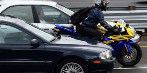 Motorcycle lane filtering legalised in NSW