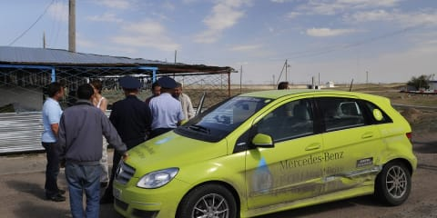 Mercedes-Benz B-Class F-CELL world tour interrupted in Kazakhstan