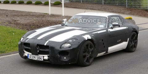 Mercedes SLS AMG spied in production trim