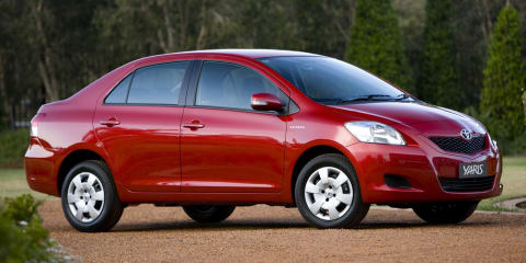 Toyota Yaris sedan dropped