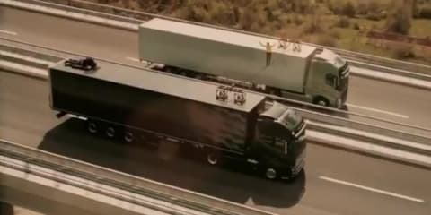 Volvo highwire truck stunt breaks Swedish safety mould
