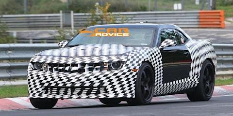 2012 Chevrolet Camaro Z28 spied on Nurburgring