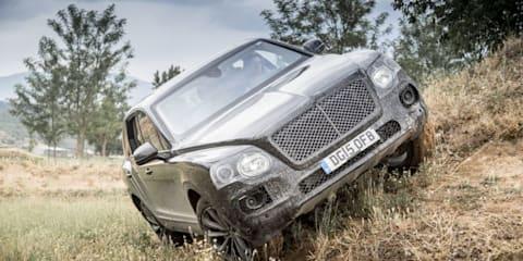 Bentley Bentayga prowls mountainside in new teaser clip
