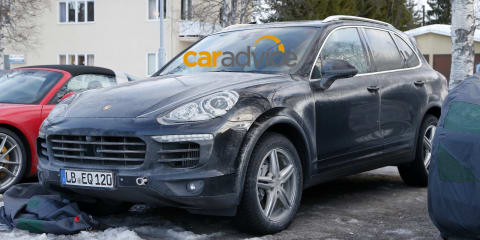 2015 Porsche Cayenne plug-in hybrid, facelift uncovered