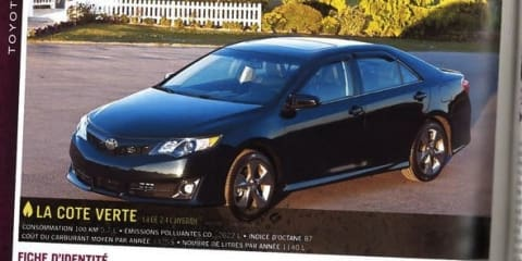 2012 Toyota Camry revealed