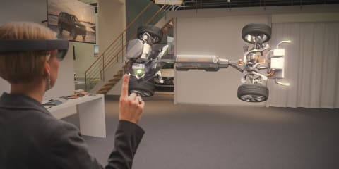 Volvo and Microsoft demonstrate HoloLens tech for showrooms