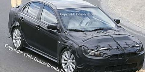 Mitsubishi Lancer Evolution X Spy shots