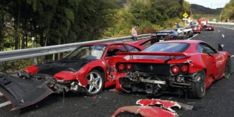 $4m Japanese supercar pile-up could see 10 charged
