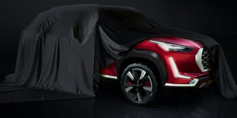 Nissan Magnite SUV concept teased for India, new logo appears