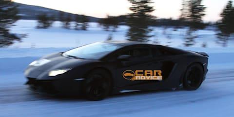 Lamborghini Aventador Roadster spied