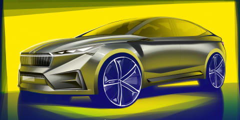 Skoda Vision iV concept sketched