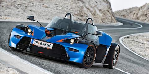KTM X-Bow GT: street-legal go-kart gets a windscreen