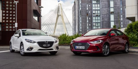 Hyundai Elantra v Mazda 3:: Small Sedan Comparison