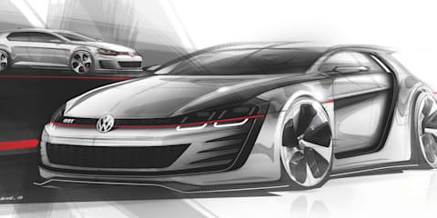 Volkswagen Golf GTI: 370kW 'Design Vision' concept teased