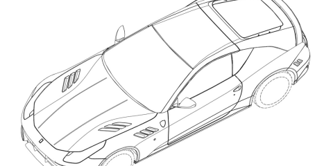 Ferrari coupe revealed in patent images
