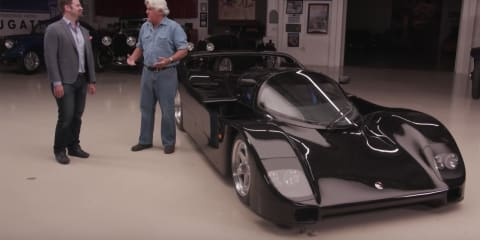Jay Leno drives 1993 Porsche Schuppan 962CR - video