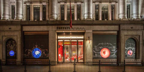 Ferrari store London unveils new display