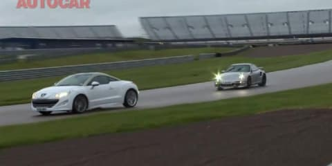 Video: Porsche 911 Turbo vs Peugeot RCZ economy run