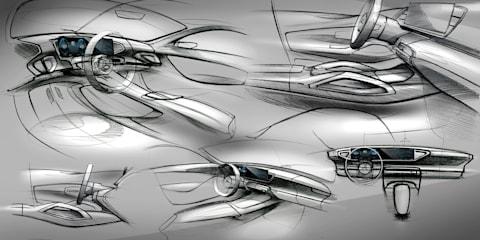 2019 Mercedes-Benz GLE interior sketched