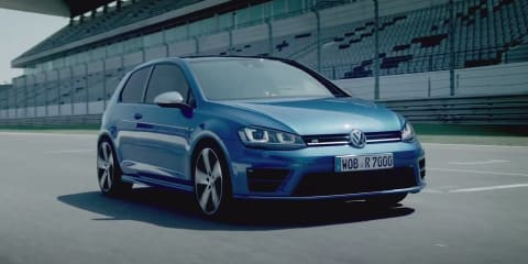 Volkswagen Golf R driven on track by WRC driver