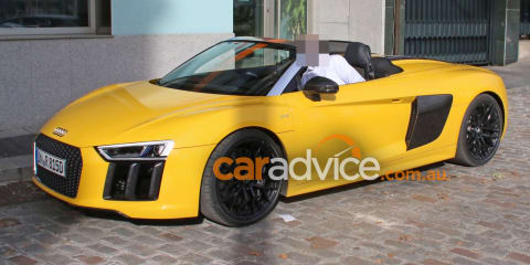 2016 Audi R8 Spyder spied completely undisguised