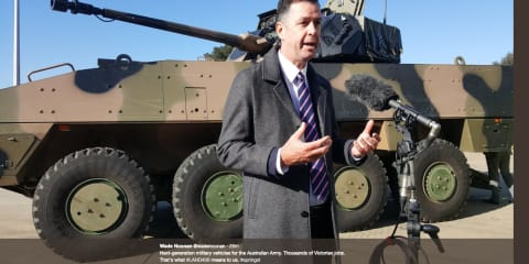 Victorian government proposes military vehicle production at old Holden site