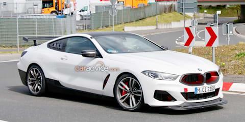 2021 BMW M8 GTS prototype spied testing at the Nurburgring