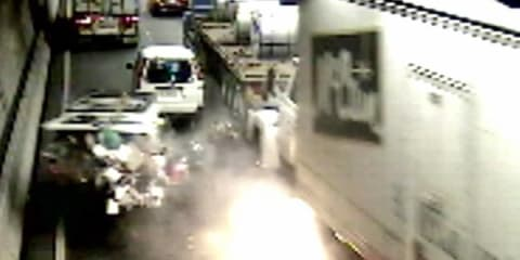 Burnley Tunnel crash driver found guilty