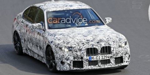 2020 BMW M3 spied with large grille