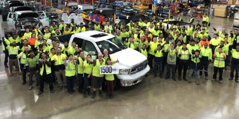Ram celebrates 1500th vehicle, start of 24-hour production