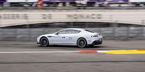 Aston  Martin Rapide E hits Monaco ePrix circuit