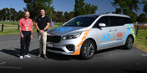 Interview: Iain Moffat and the Kia Carnival, Rafael Nadal's Australian Open driver