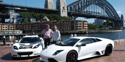 Clarkson and May arrive in Sydney for Top Gear Live